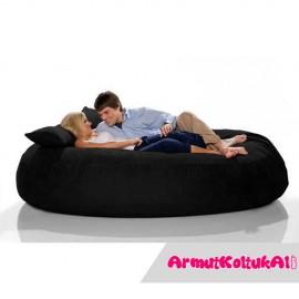 Silindir Keyif Yatağı - Özel Ürün-1-Siyah